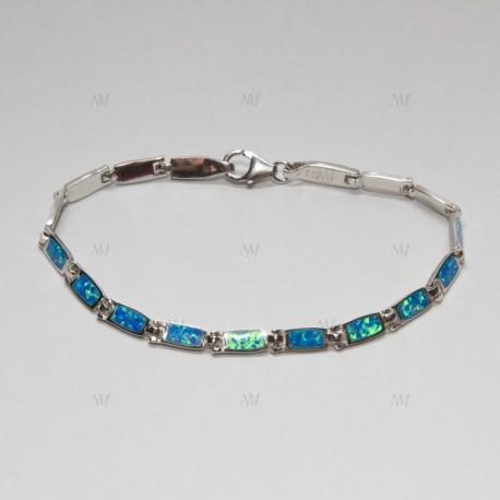 NM LOB002 strieborný náramok s opálmi