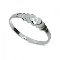 DANFIL DF1876 prsteň s briliantom