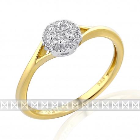 GEMS 381-2305 prsteň s briliantmi