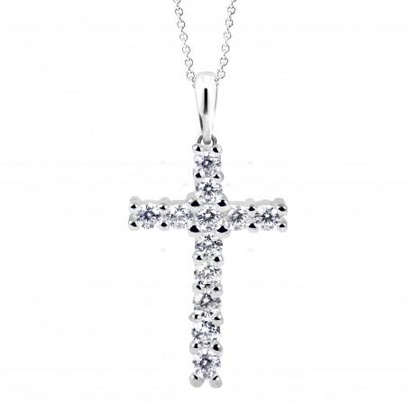 Cutie Jewellery Z6010w přívěsek křížek s brilianty