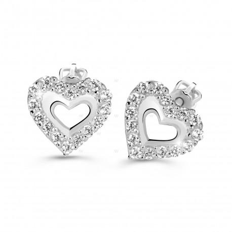 Cutie Jewellery Z60213w Ohrringe Herzen mit Zirkonen