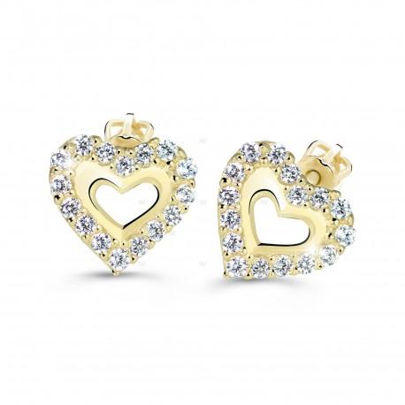 Cutie Jewellery Z60213y náušnice srdiačka so zirkonmi