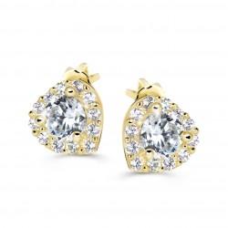 Cutie Jewellery Z60231y Ohrringe Herzen mit Zirkonen